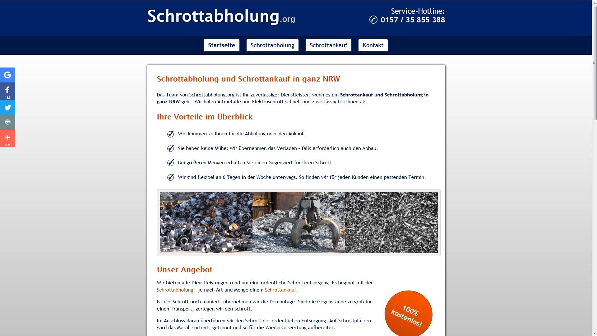 Schrottabholung Castrop-Rauxel: Unkompliziert und Spezialisiert