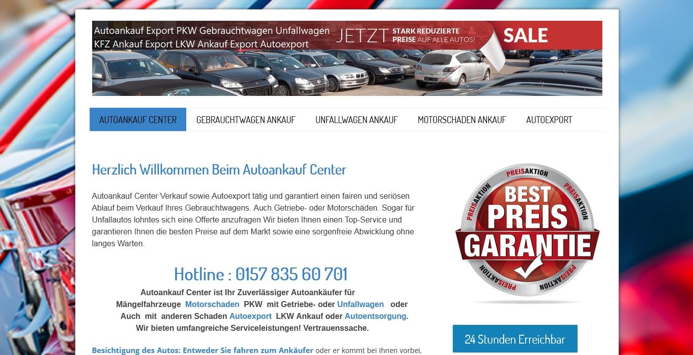 Deutschlandweiter Autoankauf mit Abholservice